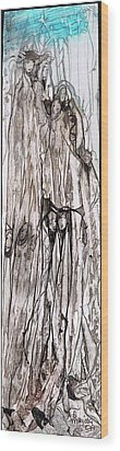 Tall  Wood Print by Anne-D Mejaki - Art About You productions