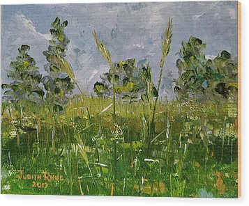 Wood Print featuring the painting Tall Grass by Judith Rhue