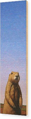 Tall Prairie Dog Wood Print