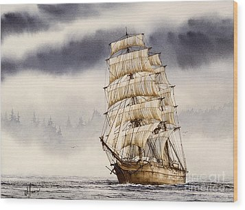 Tall Ship Adventure Wood Print by James Williamson