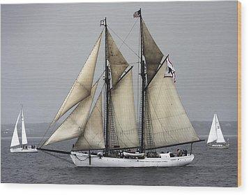 Tall Ship Wood Print by Dapixara Art