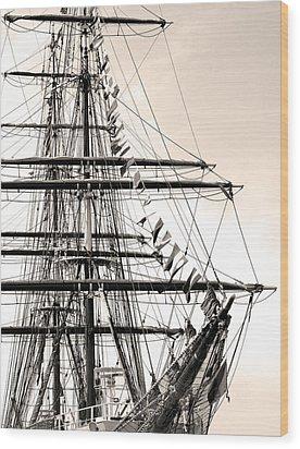 Tall Ship Wood Print by Paul Boroznoff