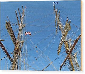 Tall Ship Series 16 Wood Print by Scott Hovind