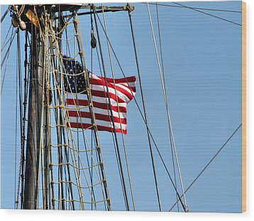 Tall Ship Series 3 Wood Print by Scott Hovind