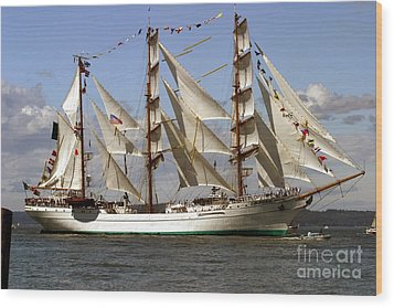 Tall Ship Wood Print by Robert  Torkomian