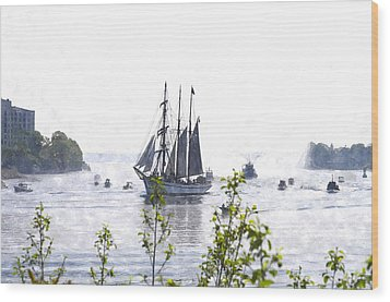 Tall Ship Tswc Wood Print