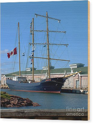 Wood Print featuring the photograph Tall Ship Waiting by RC DeWinter