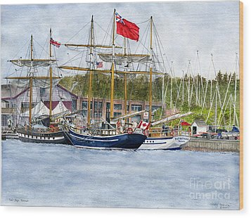 Wood Print featuring the painting Tall Ships Festival by Melly Terpening