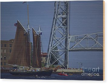 Tall Ships Wood Print by The Stone Age