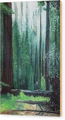 Tall Trees Wood Print by Julie Lamons