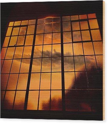 Tall Windows #2 Wood Print by Maxim Tzinman