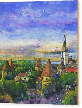 Tallinn Estonia Wood Print