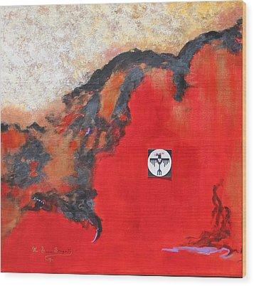 Talons Of Prey Wood Print by M Diane Bonaparte
