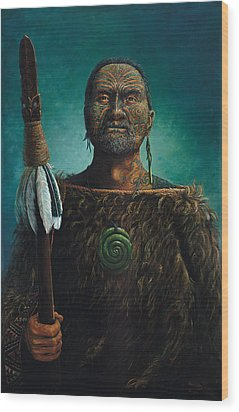 Tamaki Wood Print by Peter Jean Caley