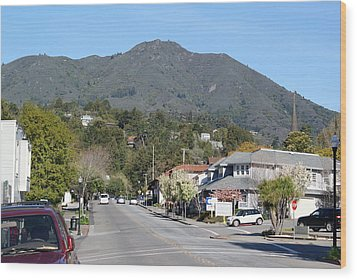 Tamalpais From Mill Valley Wood Print by Ben Upham III