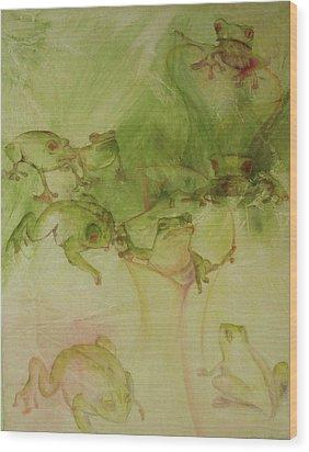 Tamalpais Spring Wood Print by Georgia Annwell