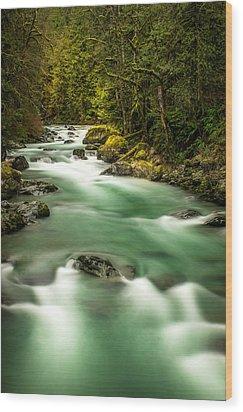 Tamihi Creek Wood Print