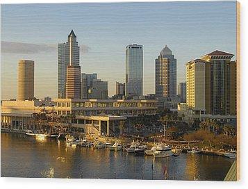 Tampa Bay And Gasparilla Wood Print by David Lee Thompson
