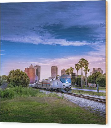 Wood Print featuring the photograph Tampa Departure by Marvin Spates
