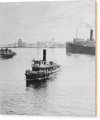 Tampa Florida - Harbor - C 1926 Wood Print by International  Images