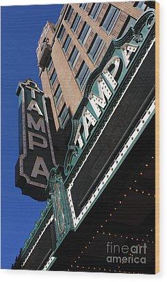 Tampa Theatre  Wood Print by Carol Groenen