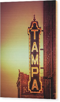 Tampa Theatre Wood Print by Carolyn Marshall