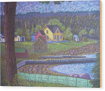 Tancook Houses Wood Print by Rae  Smith