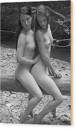 'tandem' Wood Print by J N