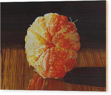 Tangerine Wood Print by Catherine G McElroy