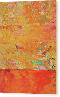 Tangerine Dream Wood Print by Skip Hunt