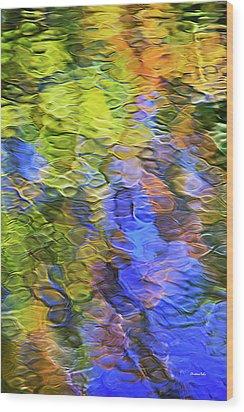 Tangerine Twist Mosaic Abstract Art Wood Print by Christina Rollo