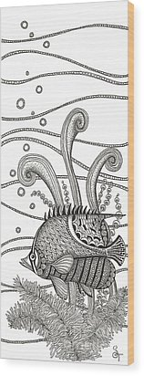 Tangle Fish Wood Print by Stephanie Troxell