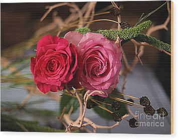 Wood Print featuring the photograph Tangled On Driftwood by Diana Mary Sharpton