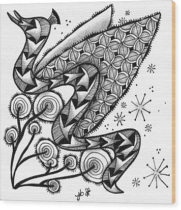 Tangled Serpent Wood Print by Jan Steinle