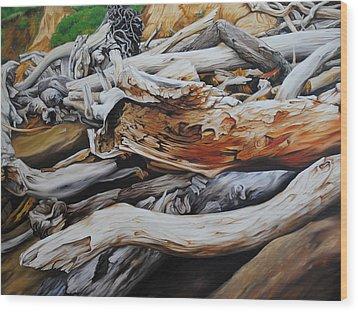 Tangled Timbers Wood Print