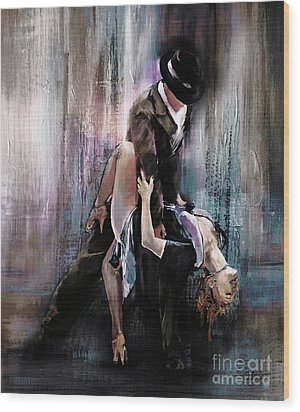 Tango Couple 05 Wood Print