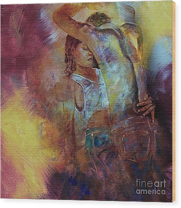 Tango Couple Dance Vby7 Wood Print by Gull G