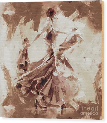 Wood Print featuring the painting Tango Dance 9910j by Gull G