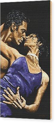 Tango Heat Wood Print by Richard Young
