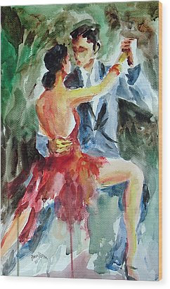 Tango In The Night Wood Print by Faruk Koksal