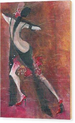 Tango Wood Print by Maya Manolova