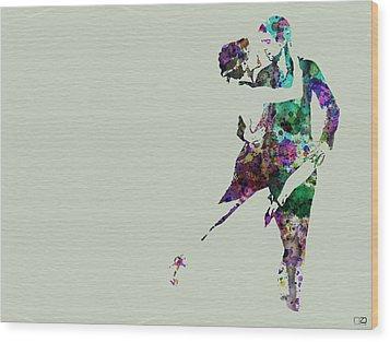 Tango Wood Print by Naxart Studio
