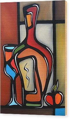 Tannins By Fidostudio Wood Print by Tom Fedro - Fidostudio