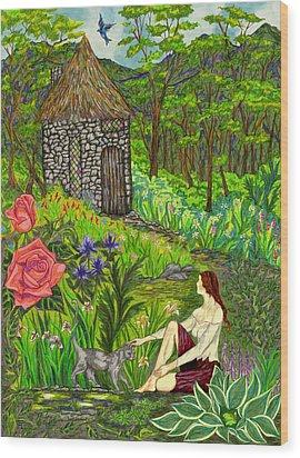 Tansel's Garden Wood Print