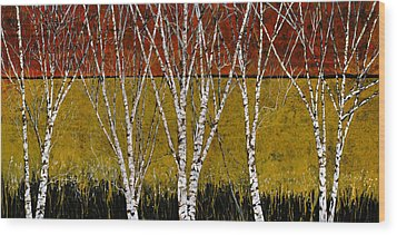 Tante Betulle Wood Print by Guido Borelli