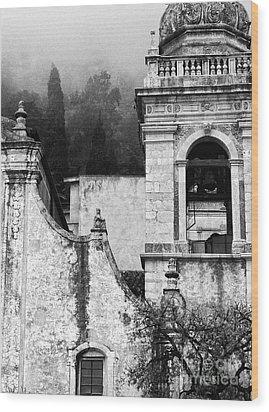 Taormina Church Detail Wood Print by Silvia Ganora