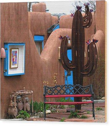 Taos Cactus Wood Print