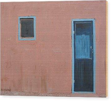 Taos Pueblo Vi Wood Print by John Terry
