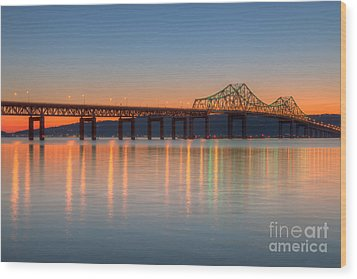Tappan Zee Bridge After Sunset II Wood Print