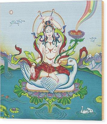 Tara Protecting Against Poisons And Naga-related Diseases Wood Print by Carmen Mensink